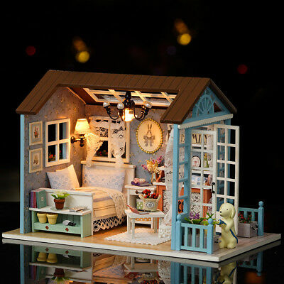 DIY Miniature Mini Loft Dollhouse Kit Mini Wooden House Furniture Xmas Gift New