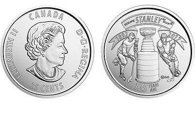 SIX BU FIRST STRIKES 1892 - 2017 CANADIAN QUARTER 125th Anniversary STANLEY CUP