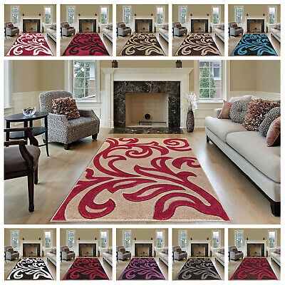 Luxury Thick Modern Gel Back Large Runners Medium Carpet Soft Non-Shed Area Rugs