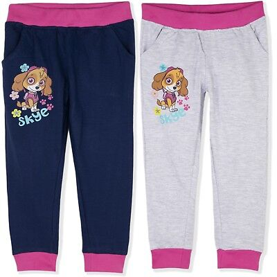 Paw Patrol Skye Girls 100% Cotton Trousers Joggers Bottoms Sweat Pants 2-8 years