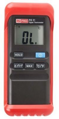 RS PRO Digital Thermometer, 1 Input Handheld, K Type Input No With RS Calibratio