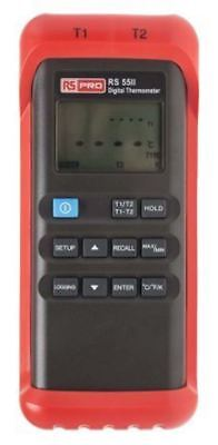 RS PRO Digital Thermometer, 2 Input Handheld, J, K Type Input With RS Calibratio