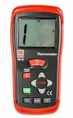 RS PRO RS42 Digital Thermometer, 1 Input Handheld, K Type Input With UKAS Calibr
