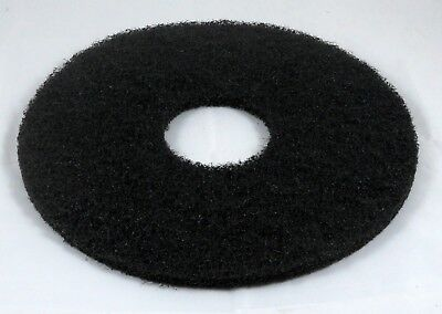 "13"" Black Floor Scrubbing Pad for Commercial Use. Pack of 2."