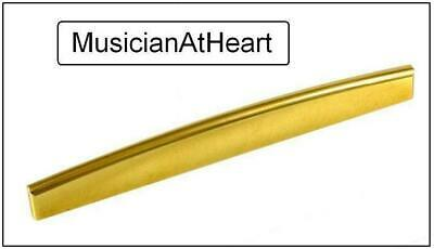 SADDLE Set for Acoustic Guitar MusicianAtHeart UNIVERSAL FIT Brass NUT