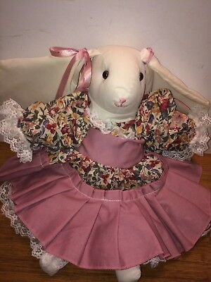 Handmade Primitive Country Spring  Bunny cloth rabbit doll Rag Doll