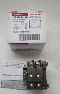 NEW IN BOX Honeywell R8222D1014 DPDT General Purpose Relay FREE SHIPPING