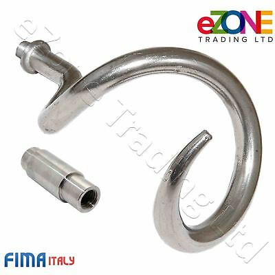 FIMA S40 Pizza Dough Mixer Stainless Steel Shaft & Spiral Hook New Complete Set