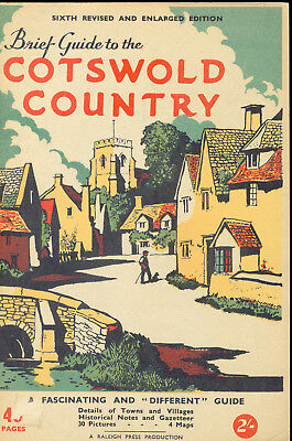 Cotswold Country Vintage 1964 Guide UK England Maps Photos Drawings