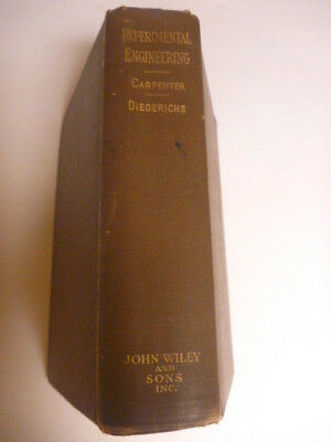 Antique Experimental Mechanical Engineering Book Published in 1911, Vintage