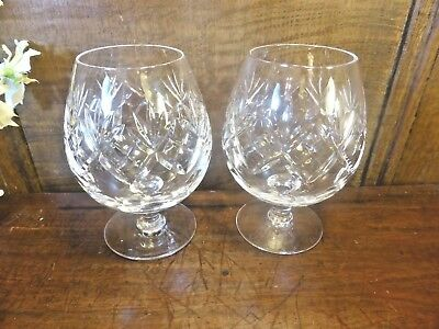 "EXCELLENT Doulton CRYSTAL ""GEORGIAN"" pair BRANDY GLASSES - 12cms"