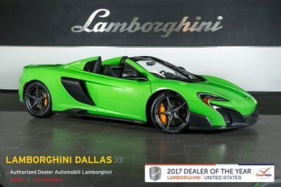 2016 McLaren 675 LT Spider  415K MSRP+RR CAM+VEHICLE LIFT+CARBON FIBER EXT/INT+SUPER-LIGHT FORGED WHEELS
