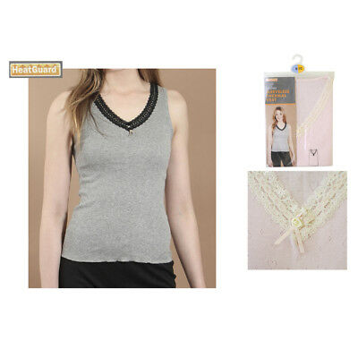 Ladies Womens Thermal V Neck Sleeveless Spencer Vest Top Underwear Top Sizes