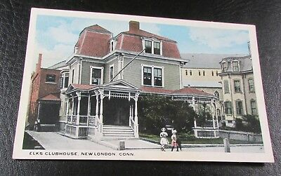 Old Postcard<NEW LONDON, CONNECTICUT>{ ELKS CLUBHOUSE}