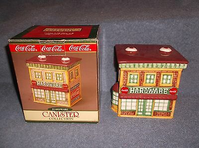 1997 Coca Cola Canister Collection Hardware Store  Ceramic By Cavanagh - Nice