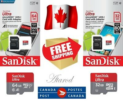 SanDisk Micro SD Card 64GB / 32 GB SDXC Memory Card TF Class 10 with SD Adapter