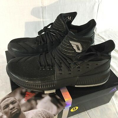 best service 29bb1 5bfce Adidas Dame 3 Men s Size 9 Damian Lillard Blackout Basketball Shoes Black  NEW