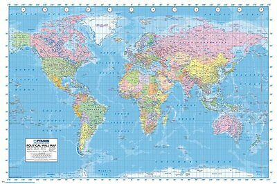 Political World Map Poster - Updated 2013 - New World Map poster