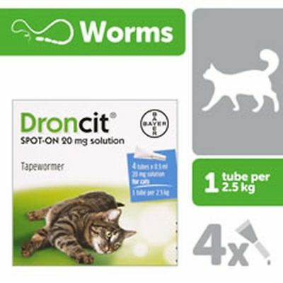 Droncit Spot-On Tubes For Cats - 4 X 0.5 Ml - Bay0031