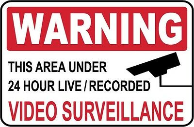 Warning - Video Surveillance Sign..- #PS-513/14...LARGE..