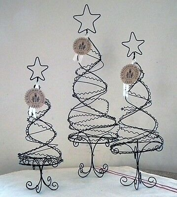 WENDY ADDISON Set of 3 ~WIRE TABLETOP TREES~ Retired and NWT!