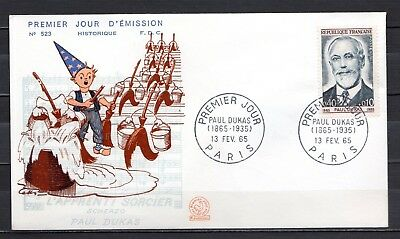 France - 1965 Paul Dukas (Composer) -  Mi. 1501 FDC (historique)