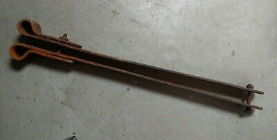 2 Antique  Iron Strap Hinges Barn Door Gate Vintage Primitive