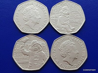 Paddington Bear at The Station OR The Palace 2018 OR Both Uncirculated 50p Rare