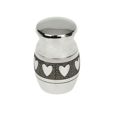 Cremation Pendant Ashes Funeral Holders Silver Heart Necklace Keepsakes