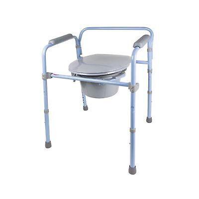 Carex Folding Commode, Portable Toilet For Adults and Bedside Commode Chair, ...