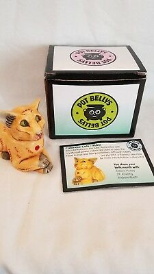 Harmony Kingdom Ball Pot Belly Cats - Birthstones * RUBY July