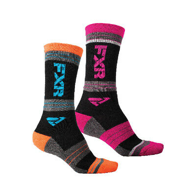 FXR Turbo Athletic Sock Authentic Moist-Wick 10in From Heel to Cuff Snowmobile