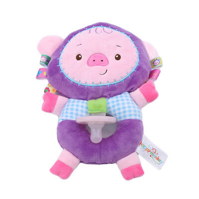 Infant Baby Dummy Pacifier Clip Feeding Plush Animal Toy Soother Nipple Holder B