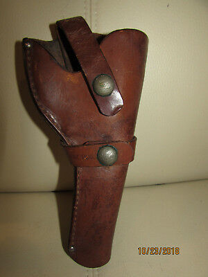 Vintage Leather Holster Brauer Bros St Louis Moose Brand Double Strap