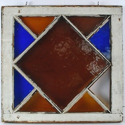 Antique Vintage Leaded Stained Glass Window Farmhouse Arts & Crafts Salvage