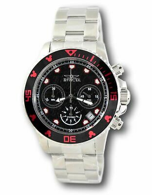 Invicta Disney Limited Edition Men's Black Stainless Chronograph Watch 22766