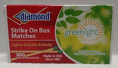 New Diamond Strike On Box Kitchen Matches Greenlight Thick 1 Pack 300 Count