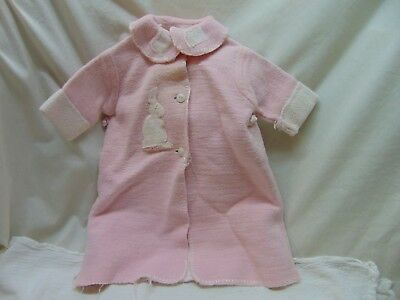 **Vintage & Homemade** Baby Girl Size?? Pink Heavy/Thick Flannel Coat