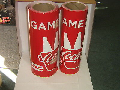 """2 Rolls - Coca-Cola """"Get Game Day Ready"""" Heavy Paper Poster/ Banner"""