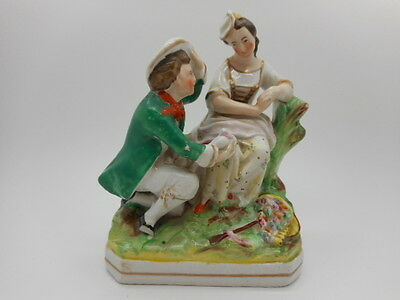 Antique Collectable Georgian  Victorian Figurine Statue Man Lady Ornament