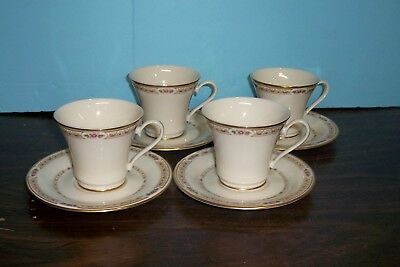 Lot Of 8 Gorham Chapel Hill Cups And Saucers Never Used Free U S Shipping