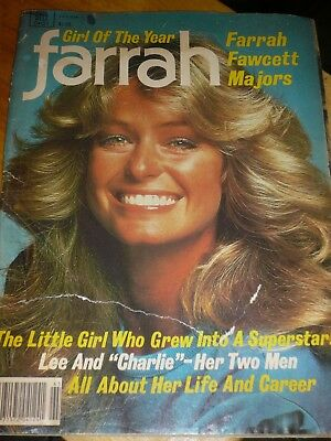 Farrah Fawcett Charlie's Angels 1977 Magazine Girl Of The Year Vintage
