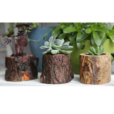 Natural Chic Solid Carved Wooden Church Pillar Candle Holder Stick Shade 7cm