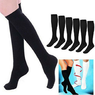 1 Pair Women Men Anti Fatigue High Knee Compression Stocking Socks Sup Sock A2U1