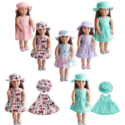 Lot Doll Clothes Christmas Dress Kit Outfit For 18'' American Girl Xmas Gift Pop