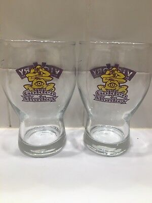 Pair of Victory Brewing - Golden Monkey Beer Glasses!!!