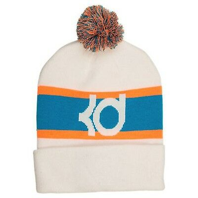 f9973de3d22 Brand New with Tags Adult unisex Nike KD 8 Knit Pom Beanie Hat White Blue