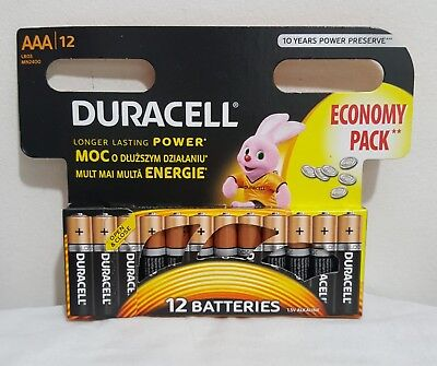 Duracell Plus Power Type AAA Alkaline Batteries Pack of 12