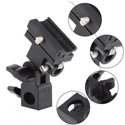 Hot Shoe Swivel Mount Photo Umbrella Holder Bracket(B)Flash Light Stand Adapter