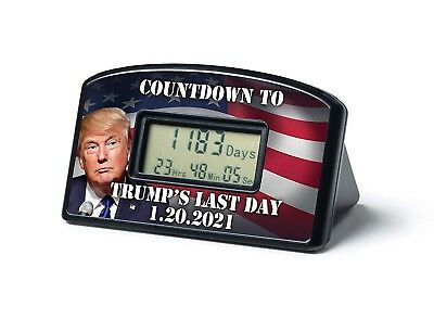Trump's Last Day 1-20-21 Countdown In Office Clock & Timer